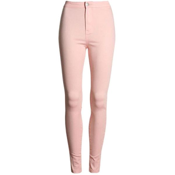 Womens Slimming Plain High Waist Pencil Leggings Pink ($28) ❤ liked on Polyvore featuring pants, leggings, pink, highwaist pants, pink leggings, pink pants, slim pants and high waisted leggings