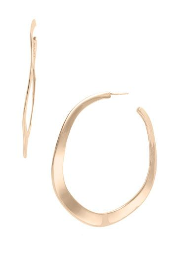 gorgeous rose hoop earrings