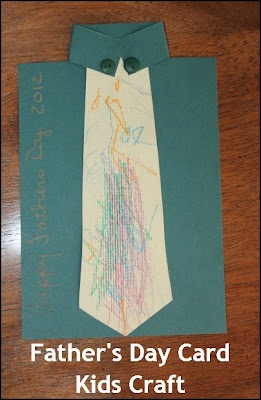 Father's Day Card Kids Craft! How cool is this? I can't wait to make ours!