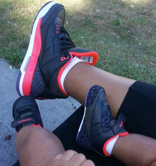 Mommy daughter sneakers  J's retro 3s
