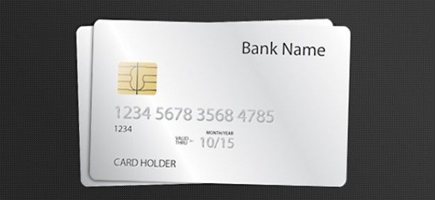 Free Blank White Credit Card Mockup In Psd Credit Card Design Cards Psd Template Free
