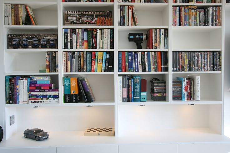 Clean, white shelving but a very simple configuration.  Bespoke work can offer something more