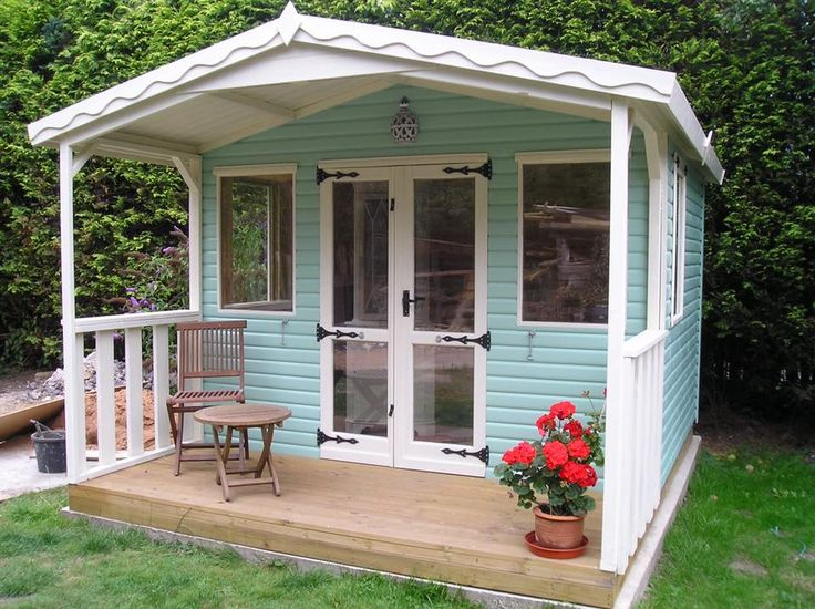 Loglap summerhouse with veranda from Solid Sheds
