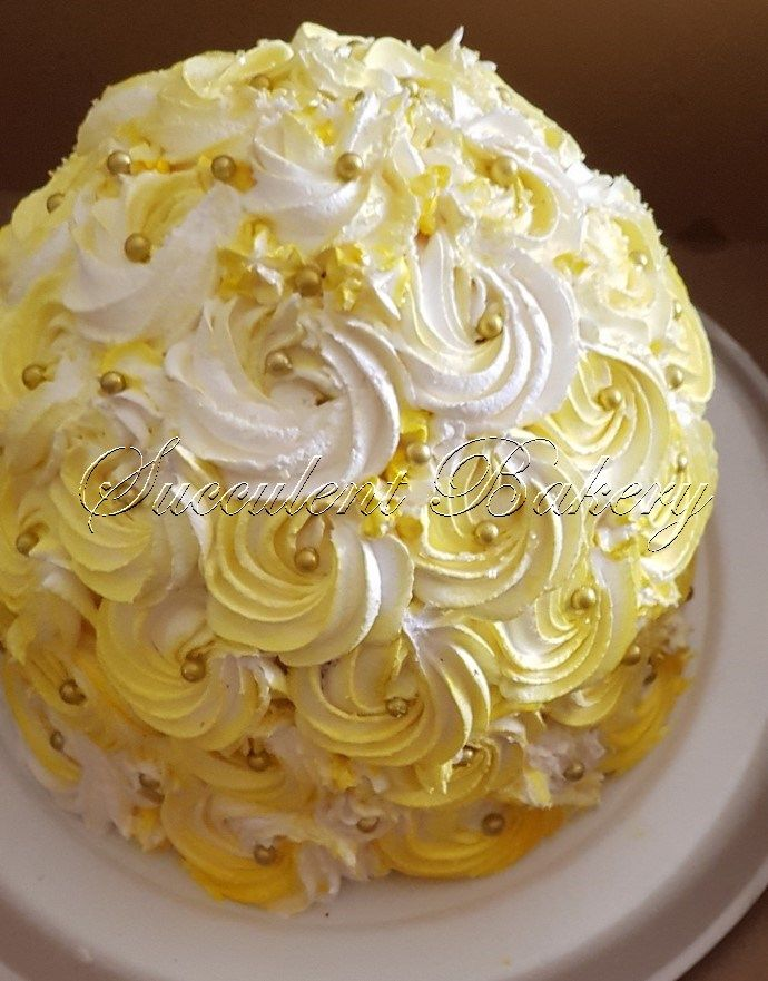 Domed Lemon And Gluten Free Cake Baking Food Sweet