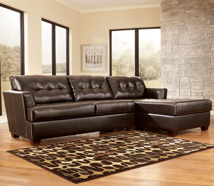 Ashley Furniture Sectional Couch. Dixon Durablend Chocolate ...