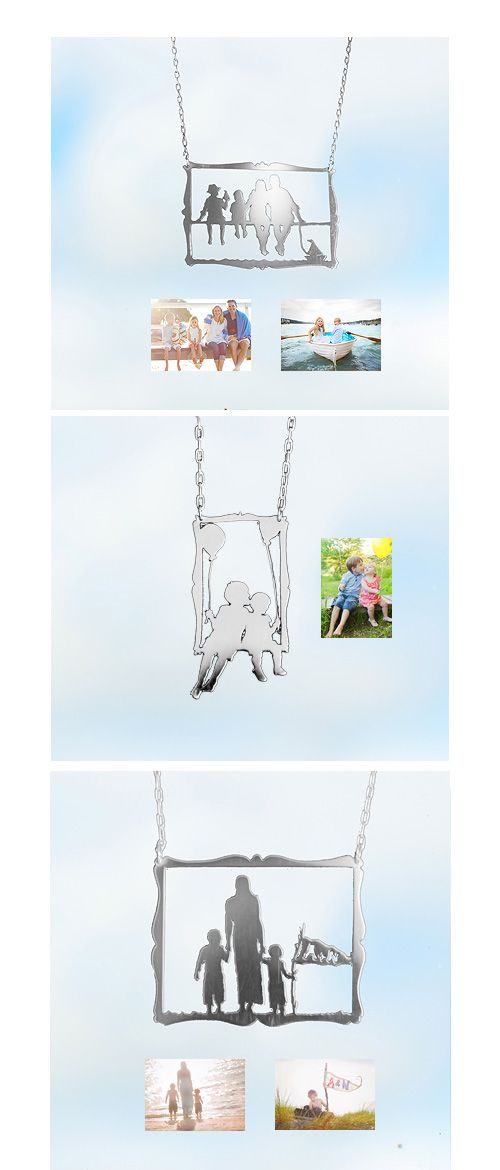 Necklace silhouettes made from your photos!