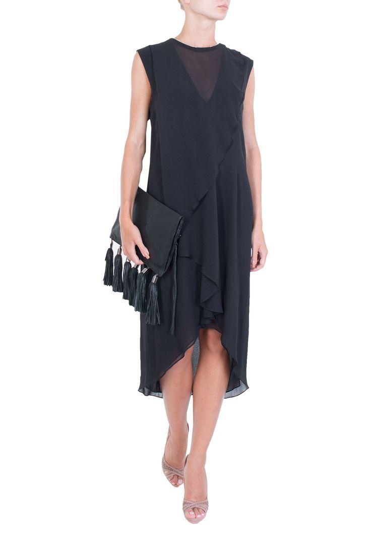 Черное Платье McQ - купить по цене 36330 рубль - PodiumLuxe.ru