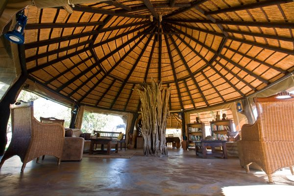 Lounge area of Africa on Foot Camp in Klaserie Private Nature Reserve - Kruger National Park, South Africa.