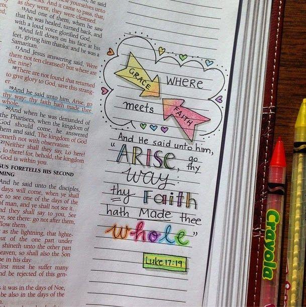 Susyan Crafts: Journaling Bible - Where Grace Meets Faith - Luke 17:19