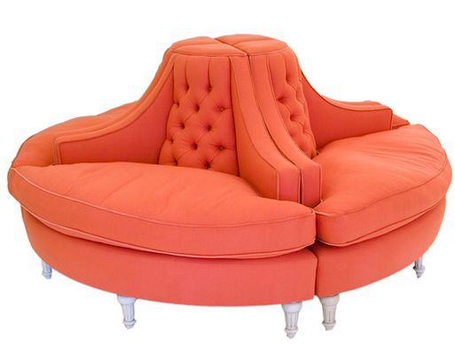 "now that's style! - thes types used to be called ""Courting Chairs"" -LOL"