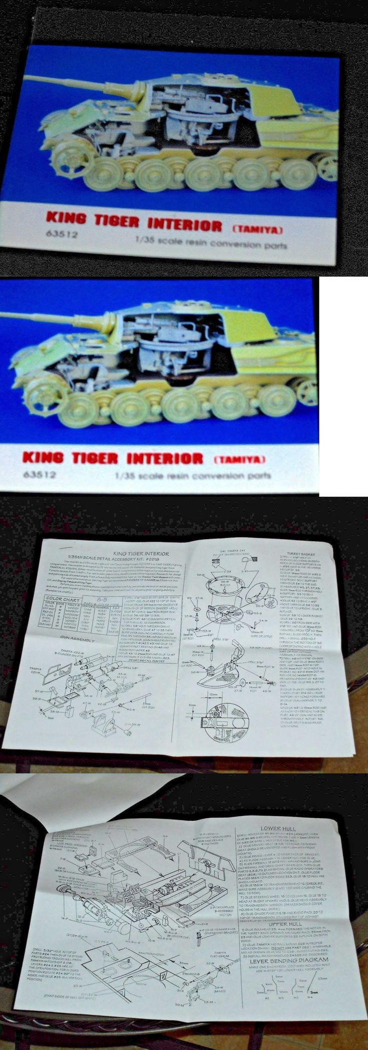Pre-1970 734: Jaguar Models 63512 - King Tiger Interior Conversion (Tamiya) 1 35 Resin Kit -> BUY IT NOW ONLY: $41.95 on eBay!