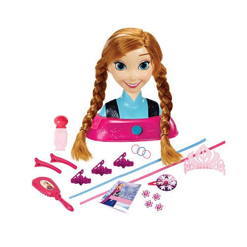 Disney Frozen Majestic Styling Hair Head - Anna - Creative Designs