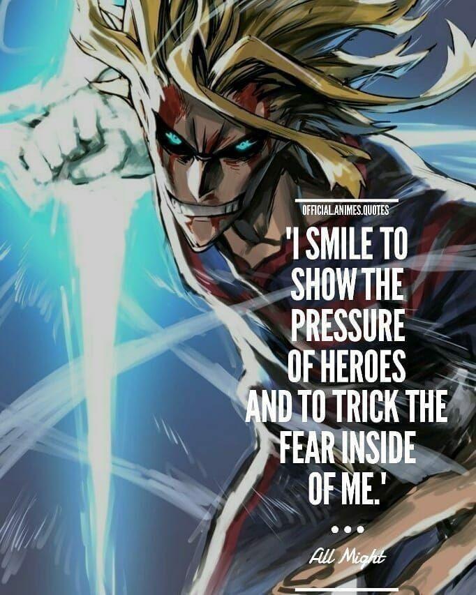 All Might Quote Hero Quotes My Hero Hero