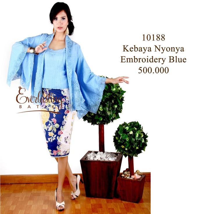10188 Kebaya Nyonya Embroidery Blue shop : http://tokofbku.co/17SWq0h
