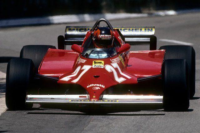Gilles Villeneuve- 1981 Monaco Ferrari 126C Turbo