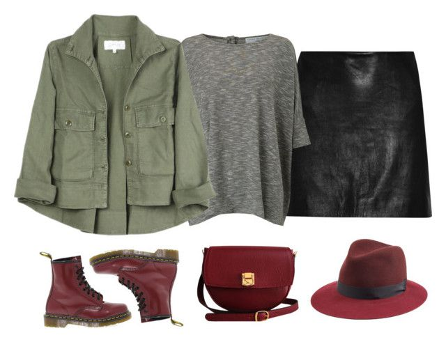 """""""Khaki"""" by girlbehindthebluedoor1590 on Polyvore featuring Diane Von Furstenberg, John Lewis, The Great, Dr. Martens, The Code and rag & bone"""