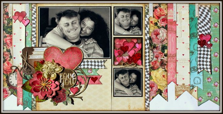 Layout taught at Scrapbook Studio JBay Retreat 2014 using Marion Smith Papers.  Products available from www.scrapbookstudio.co.za
