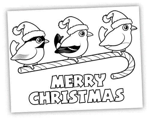 merry christmas coloring pages candy