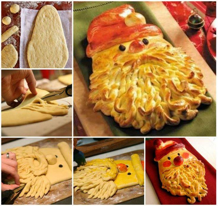 Santa Bread - how cute!!! :)