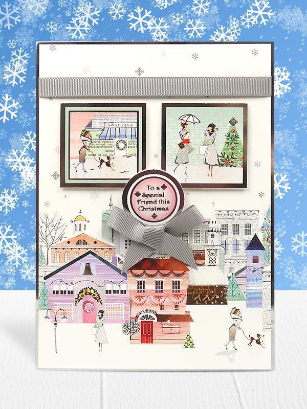 This festive village scene is glorious! This lovely card is made from the Festive Splendour collection