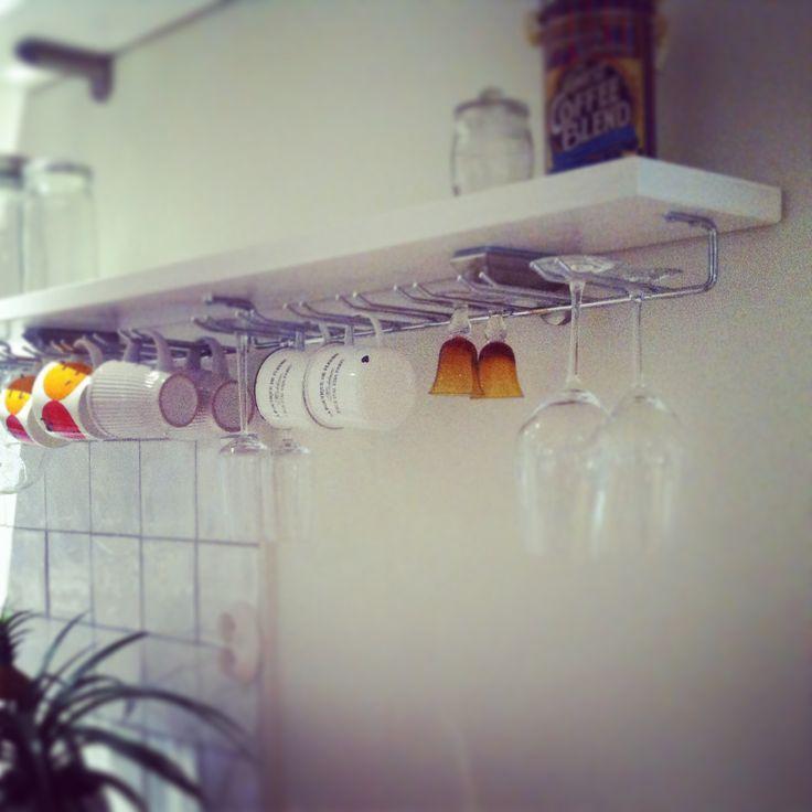 Vinglashållare hängande förvaring 14 glas