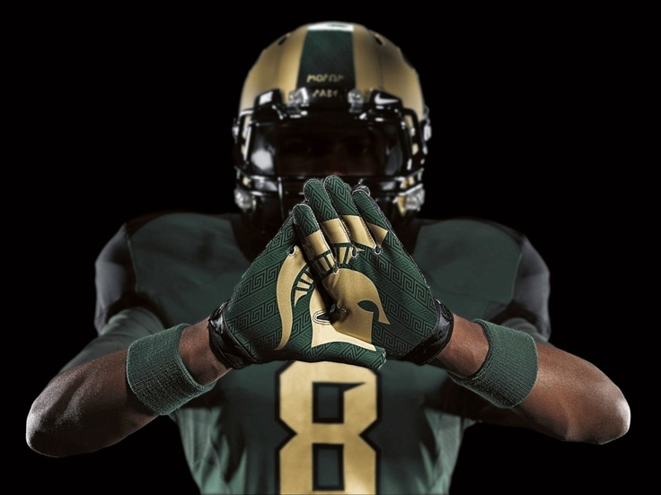 Michigan State football uniforms