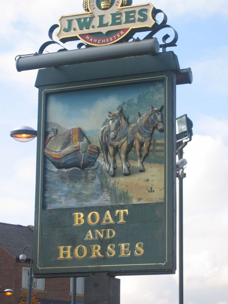 Photo taken by me - The Boat And Horses pub sign - Chadderton Manchester