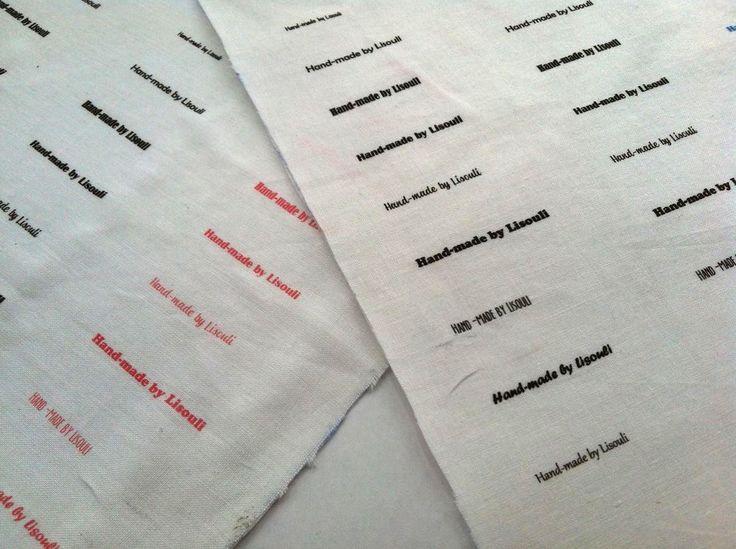 DIY : faire ses propres étiquettes sur tissu
