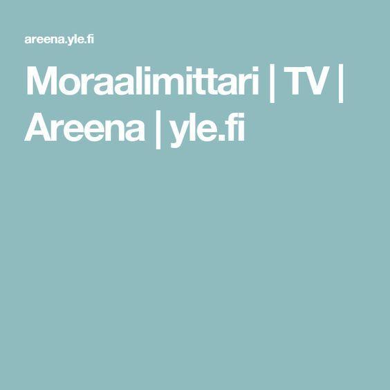 ET:n tunneille, vähän isommille, pohdittavaksi Moraalimittari | TV | Areena | yle.fi