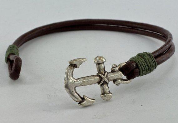 EXPRESS SHIPPING Men's leather bracelet Brown от EsraLeather