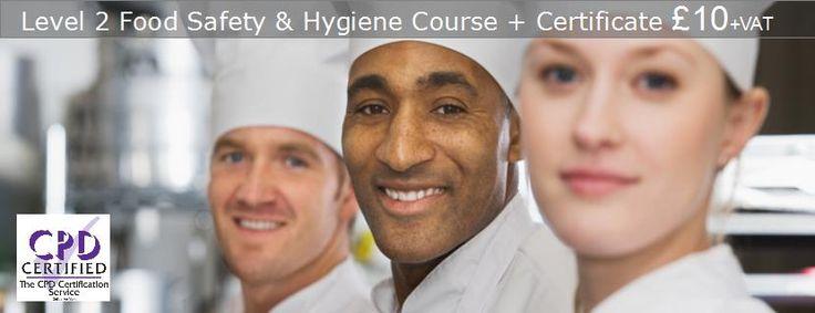 Level 2 Award in Food Safety | Online Food Hygiene Certificate | Food Safety UK £10 for level 2