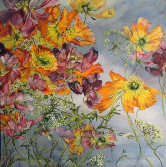 CLAIRE BASLER. Beautiful. This would make a gorgeous tattoo sleeve. Tattoo idea.