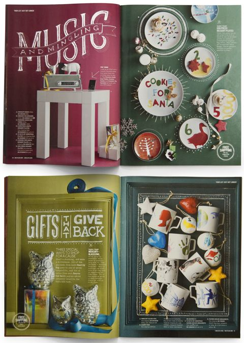 The holidays are upon us – and so are the catalogs! Undoubtedly though, the one I was most excited to receive over the long weekend was the latest from West Elm. Obviously the gift ideas are fab, but my more importantly, my incredibly talented friend Dana Tanamachi created the seriously gorgeous chalk typography and artwork featured inside. {Yay, go Dana!!} I asked what her favorite part of the experience was, and here's what she had to say…