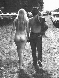 Naked and free at Woodstock, 1969