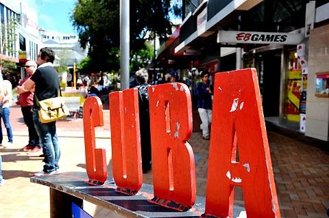 iconic Cuba street in Wellington, NZ