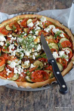 Tarte légère au tian de légumes et salakis - Recette - Marcia 'Tack