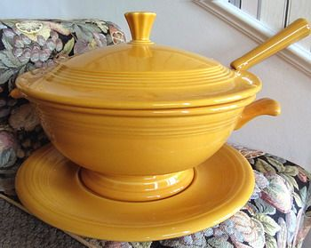 The Fiesta Soup Tureen, the special commemorative produced by Homer Laughlin China for their Fiesta ware line.