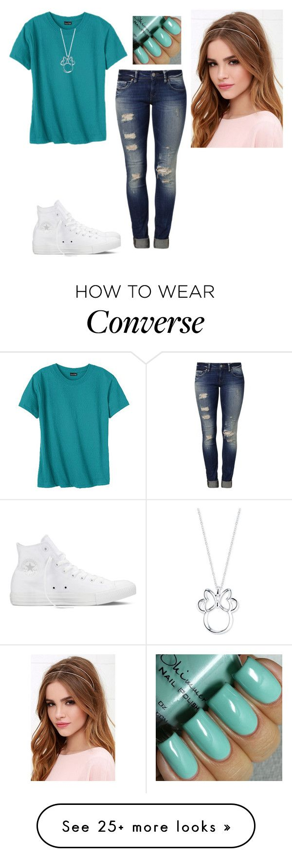 """Untitled #1321"" by hannahmcpherson12 on Polyvore featuring Hanes, Mavi, Converse, Lulu*s, Disney, women's clothing, women, female, woman and misses"