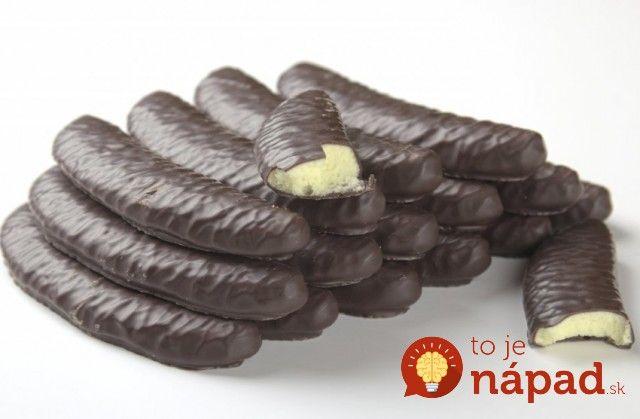 Banániky včokoláde