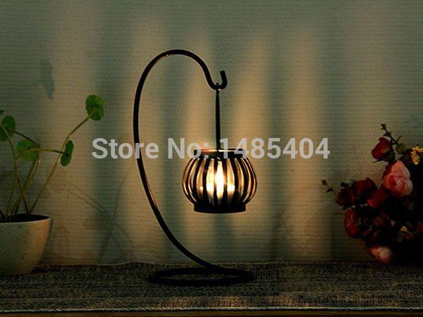 romantik düğün ev dekorasyon kabak mum lamba demir Fas tarzı Şamdan mum çay ışık tutucu dekor 2014