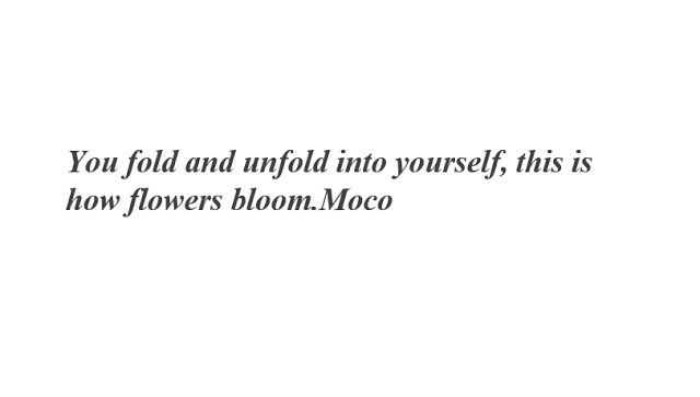 Miss Moco: This is how flowers bloom