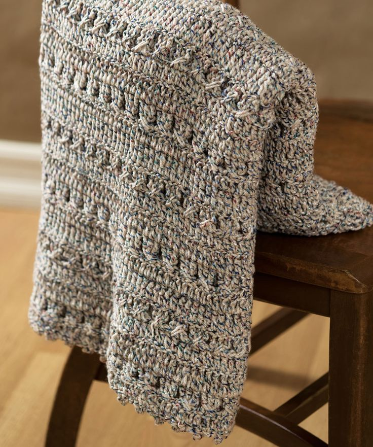 Crochet Textured Throw  Now this looks like a nice heavy afghan to keep the chills at bay.