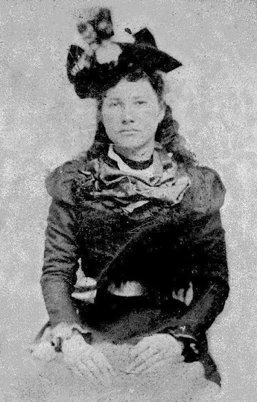 Mary Ann Berry (the daughter of Elizabeth Tullis Berry) at Hog Mountain, Georgia - Cherokee - circa 1890.