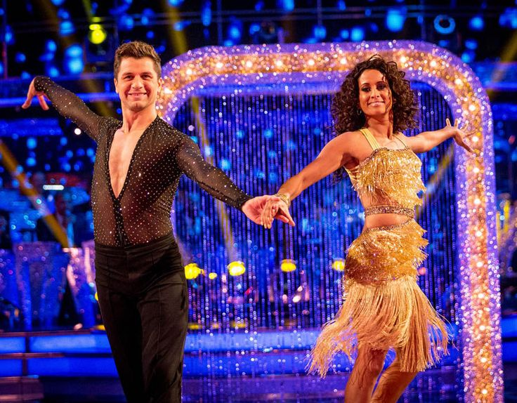 Pasha Kovalev and Naga Munchetty perform on Strictly Come Dancing