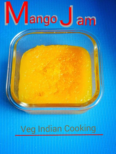 Homemade Mango Jam Recipe + All Natural Ingredients  A very simple, quick and easy homemade.mango jam recipe with step by step photos. Try this delicious small batch of mango jam which contains no preservatives. Tastes amazing on cakes, cupcakes, cookies and so much more!  #mangoes #jam #recipe #fruit  #foodblogger #homemade   #mangojamrecipe #indianfood #indianrecipes #vegetarian