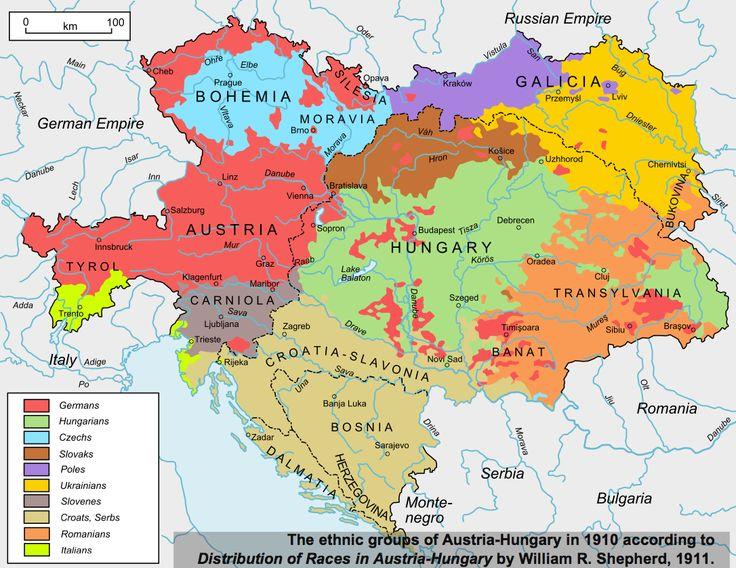 Ethno-linguistic map of Austria-Hungary, 1910 |█40 maps that explain World War I