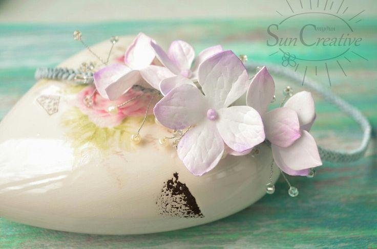 Нежная, греческая повязочка..Цветы из фоамирана.  http://vk.com/id70291624