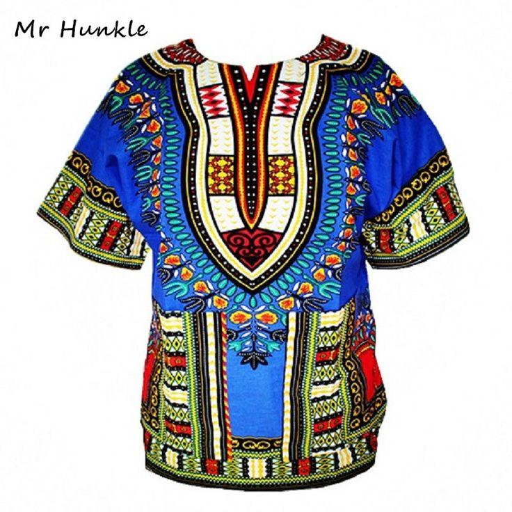 Dashiki Nuovo Abbigliamento Africano Stampa Tradizionale Top Fashion Design Africano Vestiti Bazin Riche Dashiki T-Shirt Per Le Donne Degli Uomini