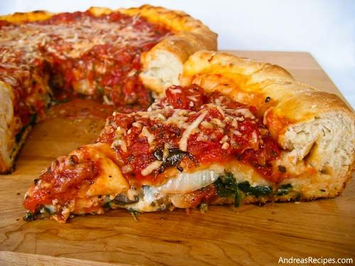 I lived in Chicago for four years and frequented the famous Giordano's pizzeria as often as I could.  Delicious!  This recipe for Chicago-style stuffed pizza is similar to that :D