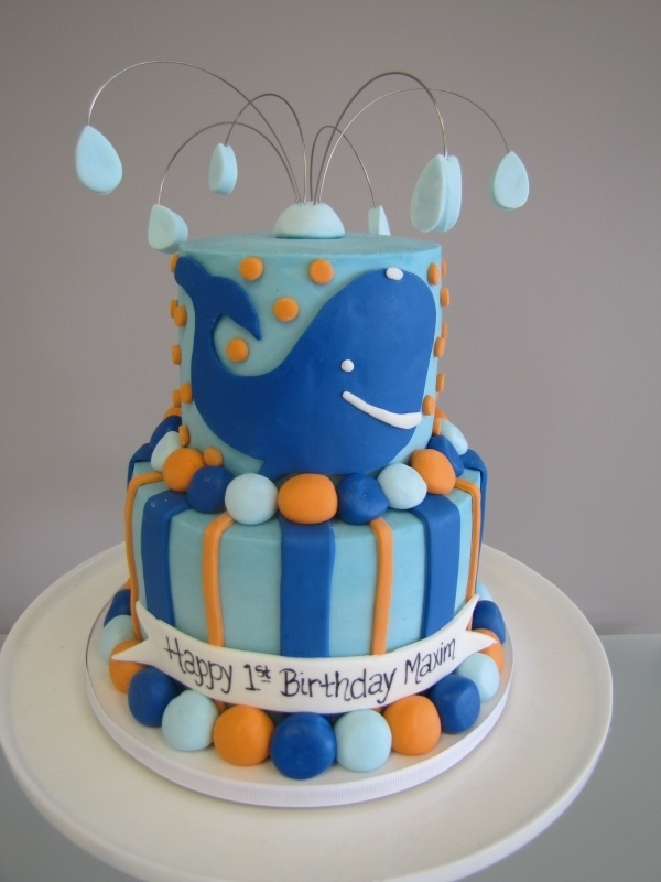 whale birthday cake, but with a fish for Marco. :)